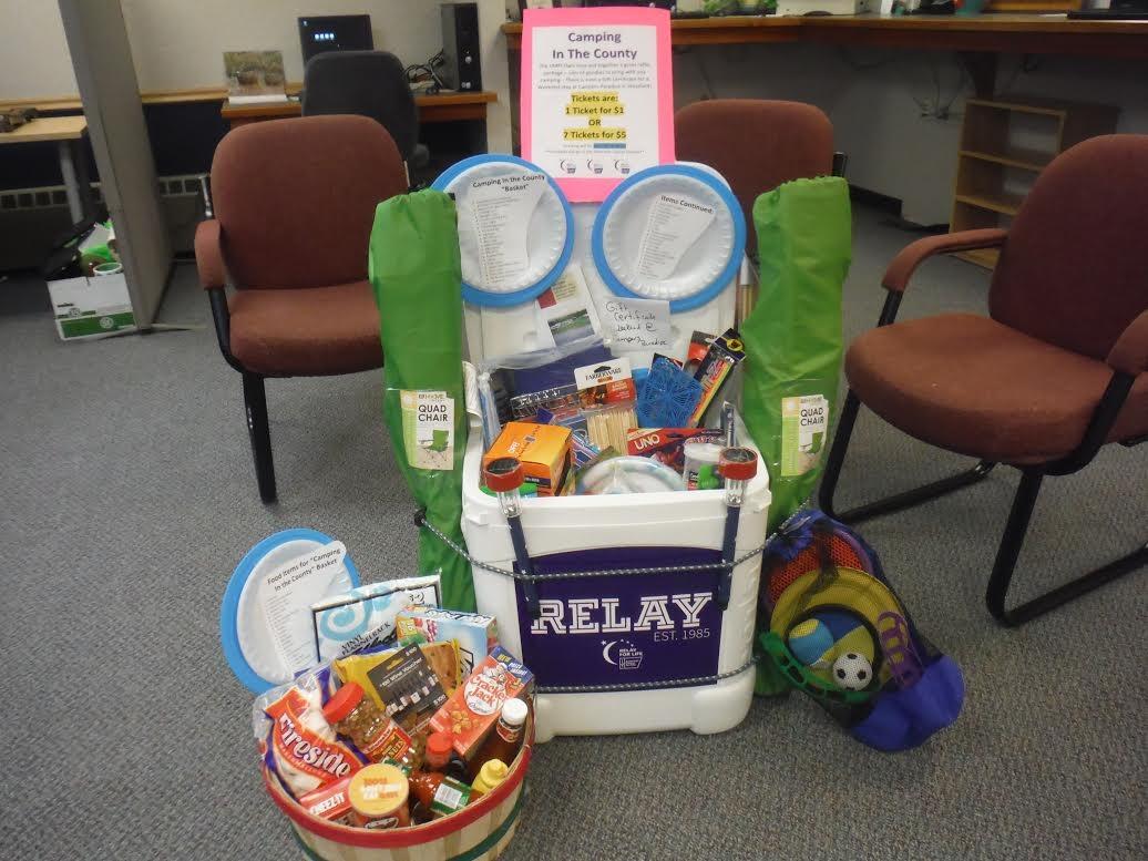 UMPI Relay for Life raffling off a themed basket