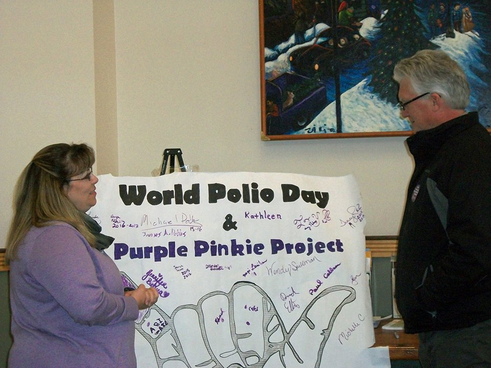 Thank you Paul Callnan, Houlton Rotarian, for being a good neighbor and helping us with our Purple Pinkie Project!