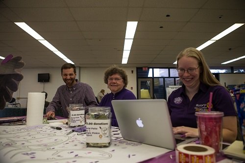 Thanks to Ben Shaw, Sharon Roix and Vanessa Pearson, who (among others) helped to cover the Purple Pinkie station in the CIL!