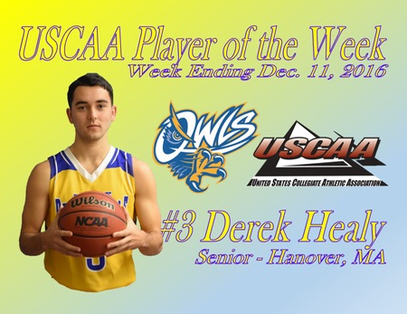 Healy nabs USCAA Player of the Week