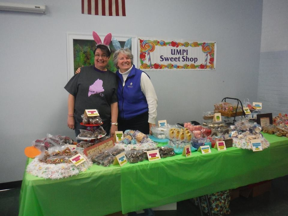 UMPI Owl Relay for Life team participating in Chocolate Festival
