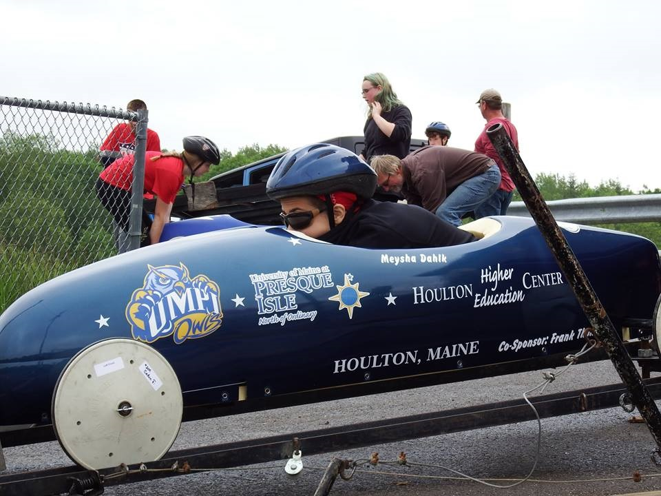 UMPI/HHEC sponsor car in soap box derby