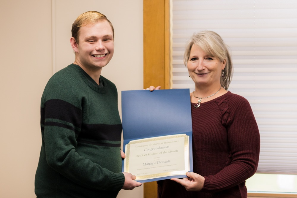 October Student of the Month: Matthew Theriault