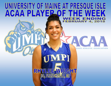 Wright named ACAA Player of the Week