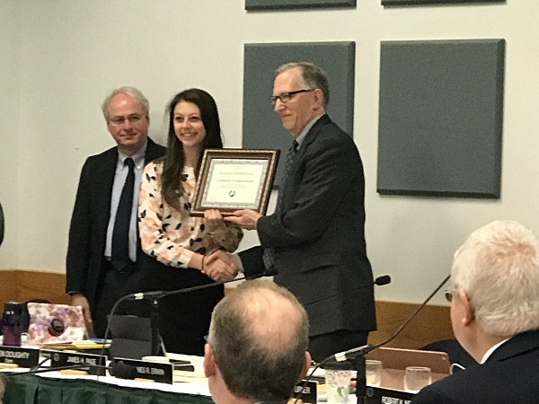 UMPI student BOT rep honored