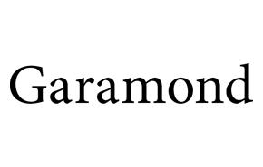 Garamond Font Preview