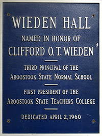 WiedenHallDedication