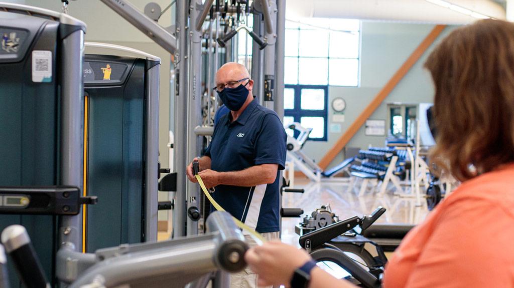 measuring distance between fitness equipment